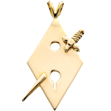 National Officer Badge Pendant with Dagger