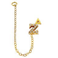 Crown Pearl Double Letter Chapter Guard