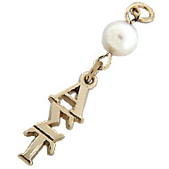 Large Letter Lavaliere with Pearl