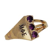 Trilogy Ring with *Amethysts