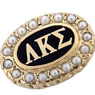Official Crown Pearl Badge, 10K
