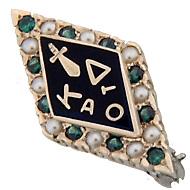 Standard Alternating Pearl & Emerald Badge