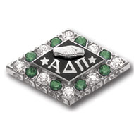 Alternating Crown Diamond and Synthetic Stone