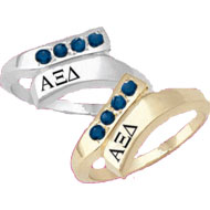 Four Stone *Sapphire Swirl Ring