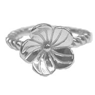Sterling Silver Pansy Ring