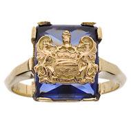 *Blue Sapphire Cushion Ring