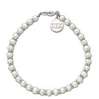 Mini Pearl Bracelet with engraved enhancer