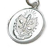 Sterling Silver Crested Charm