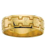 Men's Greek Monogram Band Ring