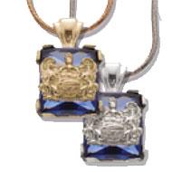 *Sapphire Cushion Pendant