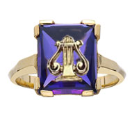 *Amethyst Lyre Cushion Ring