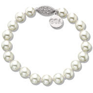 Pearl Bracelet with Filigree Clasp