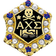 Crown Pearl Badge with *Sapphire Points