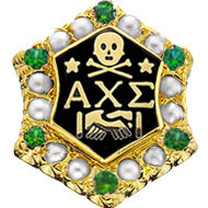 Crown Pearl Badge with *Emerald Points