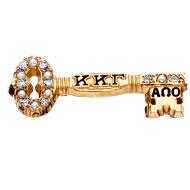 10KYG Alternating Pearl and Diamond Badge with enamel