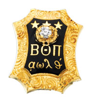 Large Chased Badge with CZ, 10K