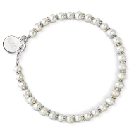 Sterling Silver Mini Pearl Bracelet with Tag