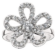 Sparkling Forget-Me-Not Ring