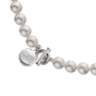 Simulated Pearl Necklace with Toggle Closure