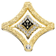 75 Year Pin with Cubic Zirconia