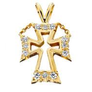 CZ Pierced Pendant