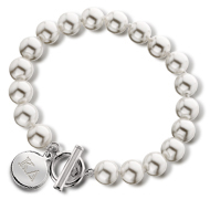 Simulated Pearl Toggle Bracelet