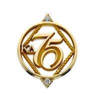 75 Year Diamond Circle Pin
