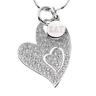 Sparkling Hearts Charm Necklace