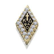 Large Crown Diamond Badge