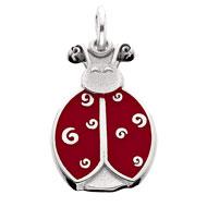Enameled Dot the Ladybug Charm