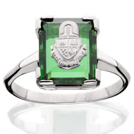 *Emerald Cushion Ring