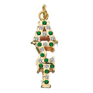 Crown *Emerald and CZ Lavaliere