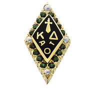 Standard Crown Emerald Badge with Pearl Points