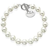 Toggle Simulated Pearl Bracelet