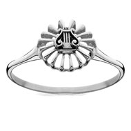Mini Lyre Ring