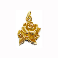 Small Rose Charm with Alpha Omicron Pi letters