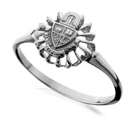 Sunburst Mini Crest Ring