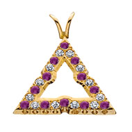 Pierced Amethyst and Diamond Badge Pendant