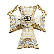 Diamond Badge with Raised Diamond Center