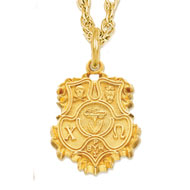 HJGreek | Catalog | Chi Omega | Necklaces | Large Crest Charm