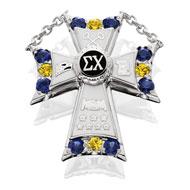 Large Blue & Gold Badge