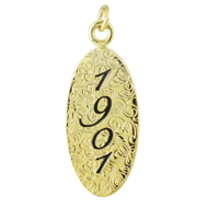 1901 Honor Roll Oval Charm