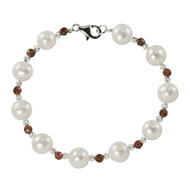 Pearl and Garnet Bracelet