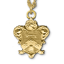 Scarf Size Crest Coat-of-Arms Necklace, 18
