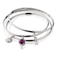 Sigma Sigma Sigma Bangle Bracelet