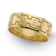 Greek Monogram Band Ring