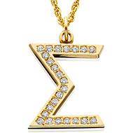 Jeweled Sigma with diamonds
