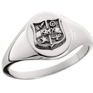 Oval Crest Signet Ring