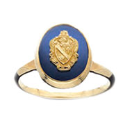 Oval Sapphire Crest Ring