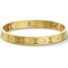 Lux Yellow Jeweled Bangle